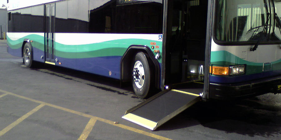 All COAST vehicles are handicap accessible like this one