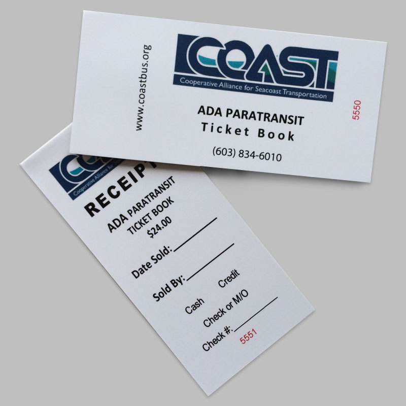 ADA Ticket Book